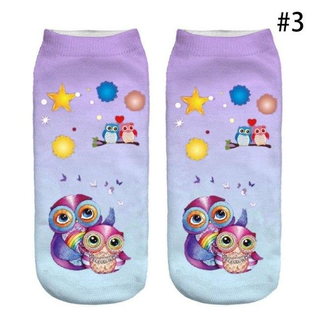 Huation 2018 3D Harajuku Style Printed Men/ Women Casual happy Socks Mens Novelty Socks Unisex Low Ankle Funny Socks calcetines-modlily