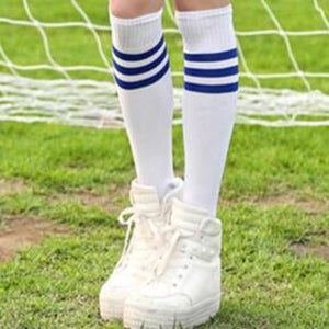 1Pair Over Knee Ankle Knee-High Women Men Socks Striped Cheerleading Socks Unisex Accessories Legging Stockings Free Shipping-modlily
