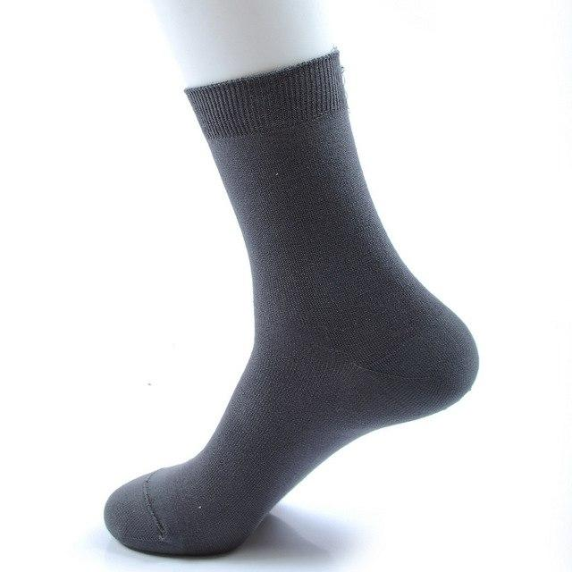 spring autumn high quality bamboo fiber brand business men socks 5pairs/lot s264-modlily