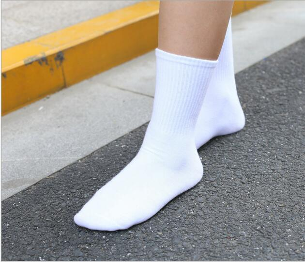 Socks contracted black-and-white pure cotton stockings texture in the sack-modlily