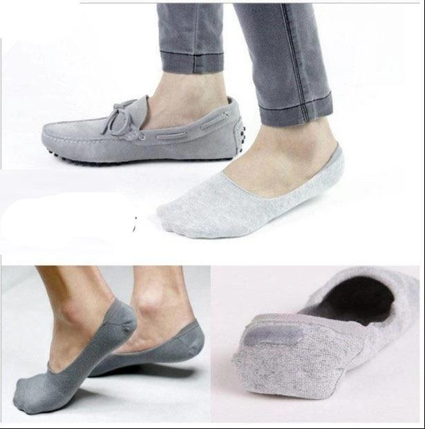 10PCS=5 pairs Invisible Socks Men's Large Boat Socks Big Feet Socks 3XL Pure Color Combed Cotton 45,46,47-modlily