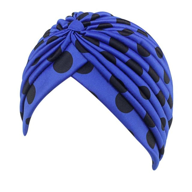 Women Hat Printing Cancer Chemo Hat Beanie Scarf Turban Head Wrap Cap Solid Color Lace Up Indian Turban Hats Gorras Mujer-modlily