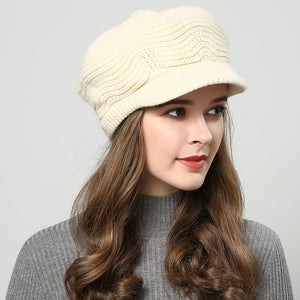 JIYOUOU winter hats for women Skullies Beanies hand made hats 2018 New women's hat knitted cap Khaki wholesale-modlily