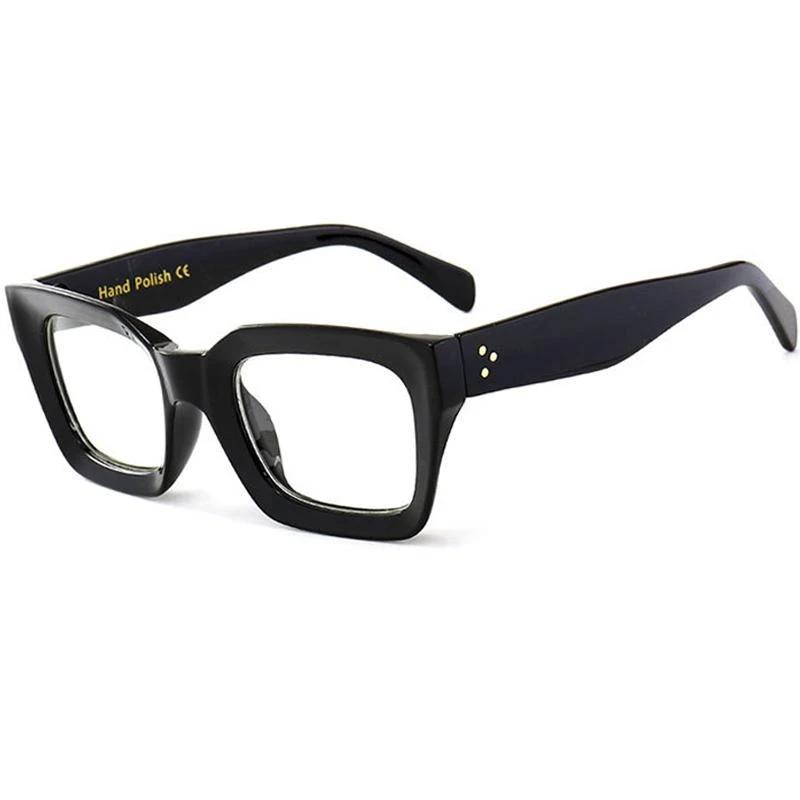 ALOZ MICC Black Frame Square Transparent Glasses Women Retro Acetate Men Eyeglassesmodlilj-modlily