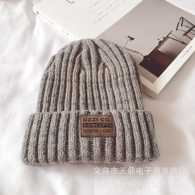 Fashion thick Twist Thread Knitted Hat Children Female Artificial Winter Hats Caps Girl Women thread Knit Beanies-modlily