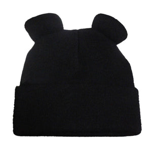 2018 Women's Winter Hats Warm Knitted Braid Hat With Ears Women's Hat Knit Caps Female Beanies Hip-hop Skullies Bonnet Femme-modlily