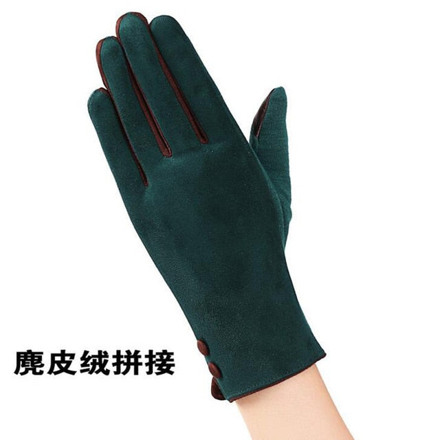 2017 New Elegant Plush Female Gloves Winter Sports Fitness Women Phone Touch Screen Wrist Mittens Gloves Guantes Mujer 13C-modlily