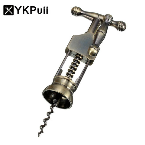 YKPuii Zinc Alloy Red Wine Opener Air Pressure Stainless Steel Pin Type Bottle Pumps Corkscrew Cork Out Tool