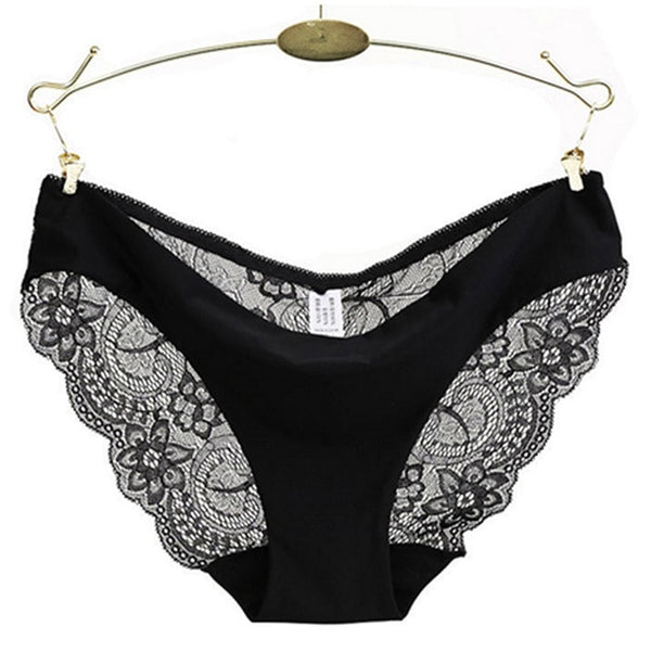 Women's Underwear Sexy Lace Panties Ladies Seamless Briefs Cotton Female Embroidery Ultra-Thin Transparent Breathable Dropship