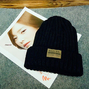 BEFORW Solid Design Skullies Bonnet Winter Hats For Women Fashion Warm Cap Girl Wool Hat Knitted Beanies Ladies Casual Cute Cap-modlily