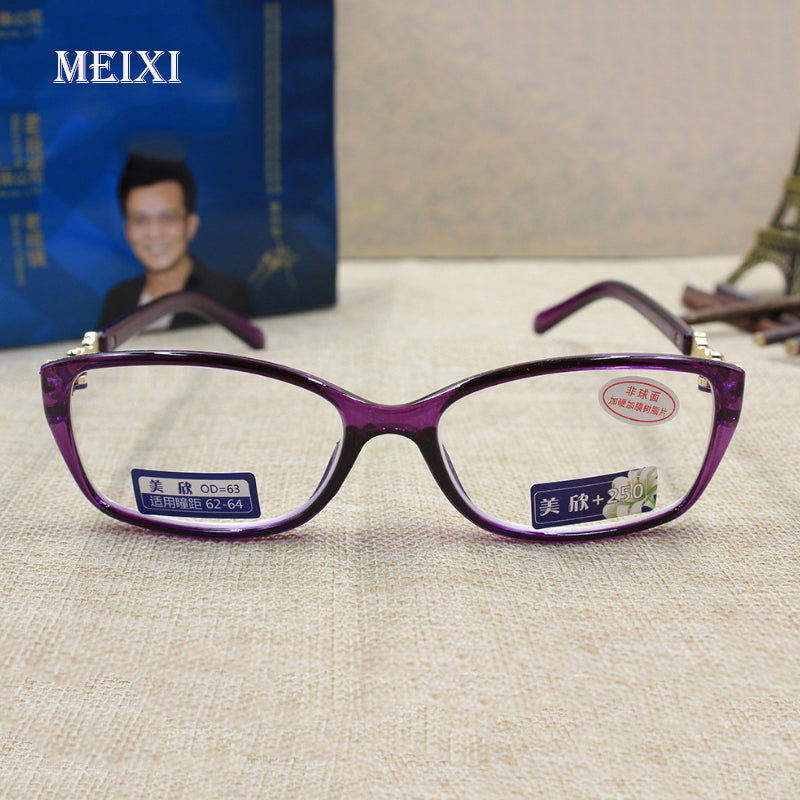 Women's HD Coating Radiation protection full purple frame Glass lenses Reading Glasses Eyewear 1.0 1.5 2.0 2.5 3.0 3.5 4.0-modlily