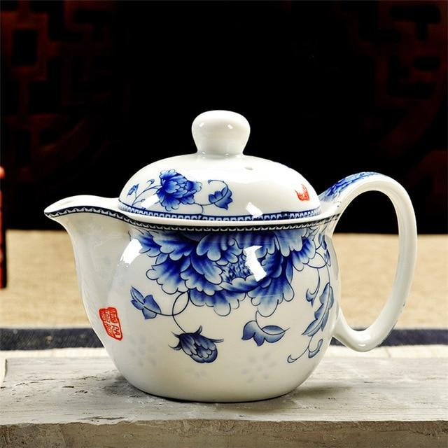 Retro Chinese Kung Fu Porcelain Teapot with Infuser Handmade Dragon Flower Puer Tea Pot 350ml Ceramic Samovar Kungfu Teaware-modlily