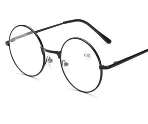 UVLAIK Metal Round Frame Reading Glasses Harry Potter Retro Men Women Mirror Glasses Personalized Presbyopic Spetascle + 100-modlily