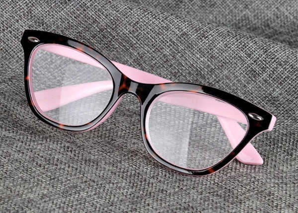 2018 Sexy Cat Eye Women Classic Leopard Pink Reading Glasses Female Farsighted Glasses Frame Presbyopia High Quality-modlily