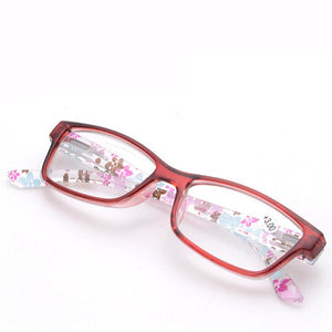 Reading Glasses Women Men Unbreakable Resin Eyeglasses Flower Colors Temple Presbyopic Eyeglasses 1.5 2.5 3.5-modlily