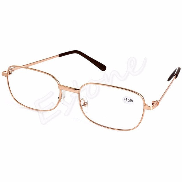 Fashion Metal Anti-fatigue Reading Glasses Men Women +1.00 1.50 2.00 2.50 3.00 3.50 4.00 Diopter-modlily