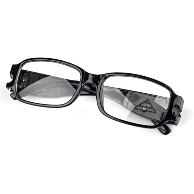 LED Light Reading Glasses Clear Occhiali Da Lettura 1.00 1.50 2.00 2.50 3.00 3.50 4.00 Diopter Night Presbyopic Glasses-modlily