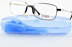 = SCOBER = !TWO PAIRS! Full-Rim Natural Crystal Lens Men Women Reading Glasses Comfort One Nose +1 +1.5 +2 +2.5+3 +3.5 +4-modlily