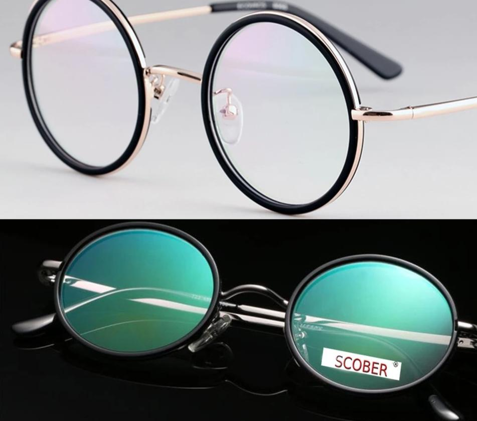 SCOBER = VINTAGE 40S Round UPPER CLASS Senator's Antireflection Coated Reading Glasses Titanium Alloy Spectacles +0.75 +1 TO +4-modlily
