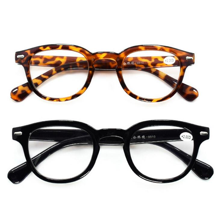 Fashion Reading Glasses Retro Style Round Men Women Power +1.0-4.00 Eyeglasses Gafas Lunettes De Lecture Leopard-modlily