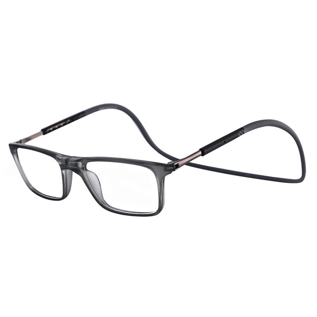 Men Women Magnetic Reading Glasses Anti Blue Ray Computer Glasses Adjustable Hanging Neck Front Connect Magnetic Eyeglass-modlily