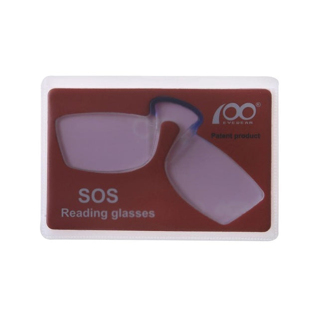 [$5 Deals] Patent Nose Clip Glasses Thin Portable Reading Glasses Mini Card Wallet Pince Nez Optics Economy Shipping-modlily