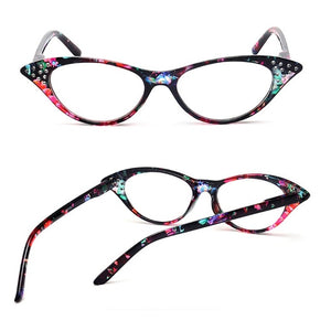 Fashion Women Cat Eye PC Frame Reading Glasses Eyeglass Eyewear +1.0-+4.0-modlily