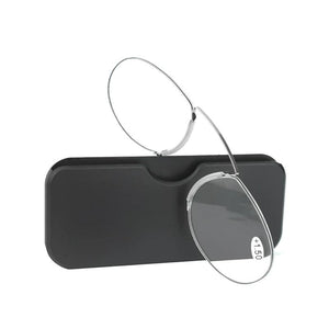 Reading Glasses 1.0 to 4.0 Portable Wallet Reader with Case nose clip on Mini reading glasses with case-modlily