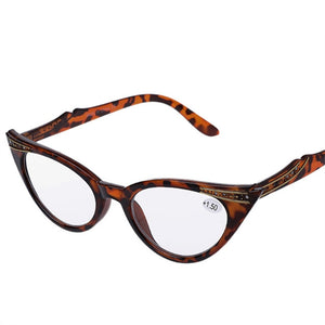 YOOSKE Fashion Cat Eye Reading Glasses Women Retro Glasses for Reader 1.0 1.5 2.0 2.5 3.0 3.5 Diopter-modlily