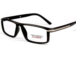 = SCOBER = Hand Made Frame Full-rim reading glasses Black Clear Young Artist Retro Eyeglasses Spectacles +0.75 +1 +1.25 to +4-modlily