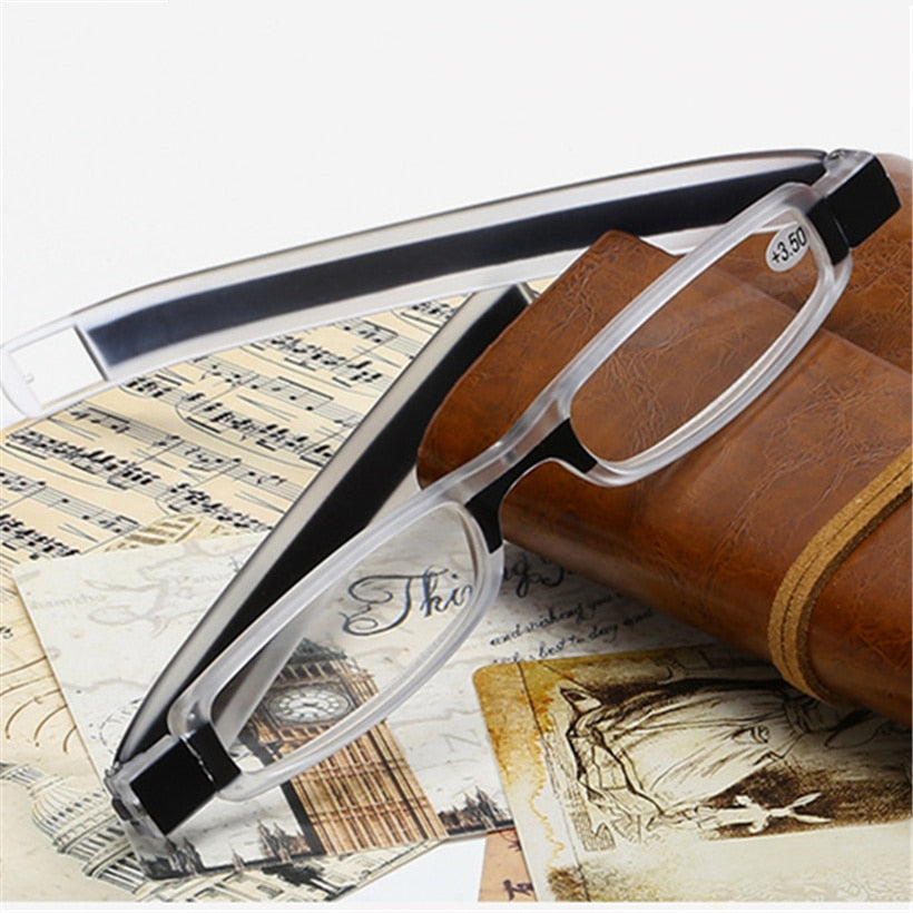 NYWOOH Portable Folding Reading Glasses Women Men 360 Degree Rotation Foldable Presbyopic Eyeglasses 2.0 2.5 3.0 3.5 4.0 Diopter-modlily