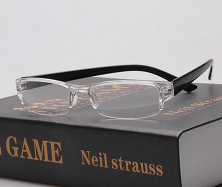 6983f65b03986 YOOSKE Small Ultra-light Reading Eyeglasses Plastic Reading Glasses Men  Women One-piece Presbyopic