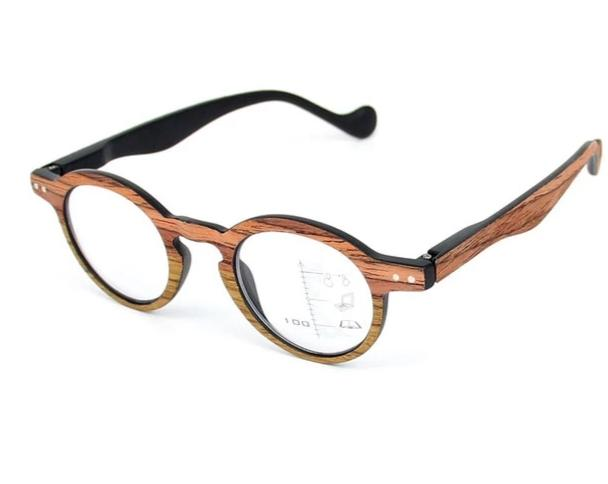 Round Multifocal Progressive Reading Glasses Wood Optical Hyperopia Presbyopia Eyeglasses Diopters +1.0 To +3.0 For Sight HN870-modlily