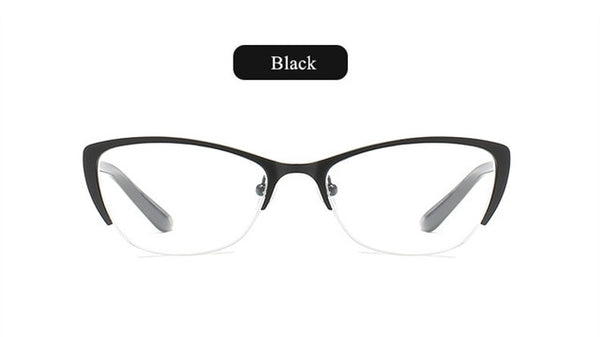Oulylan Cat Eye Reading Glasses Women Anti-Fatigue Presbyopic Glasses Men High Quality Metal Frame Eyeglasses Prescription-modlily