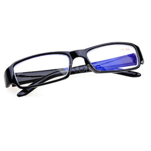 Women Men Black Frames Eyeglass Myopia Glasses -1 -1.5 -2 -2.5 -3 -3.5 -4 -4.5 -5.5 -6 Semi-rimless Reading Eyeglass-modlily