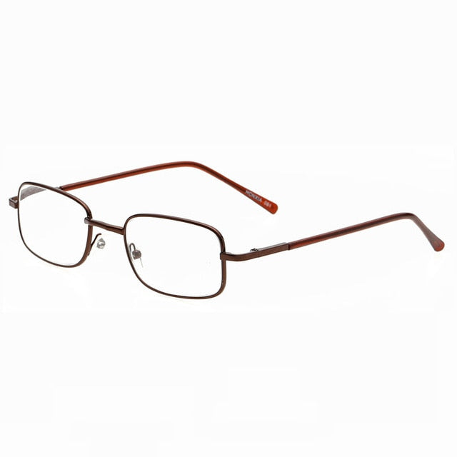Square reading Glasses women men metal optical frame glasses Eyeglasses women stainless steel reading glasses for women men-modlily