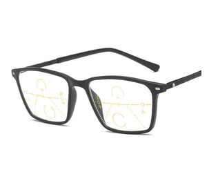CLARA VIDA LARGE FRAME FASHION STYLE MEN WOMEN PROGRESSIVE READING GLASSES SEE FAR AND NEAR NO LINES! +1 TO +4 ADD-modlily
