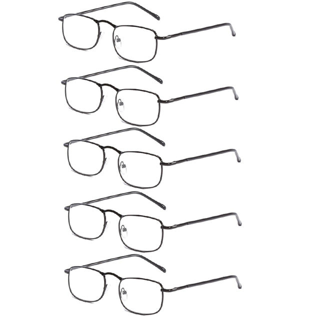 WEARKAPER Men Women Style Quality Titanium Steel Frame Spring Hinges Reading Glasses Classic Presbyopia Glasses 1.0-4.0-modlily