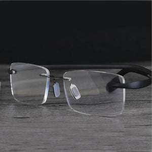 Brand TR90 Rimless Ultra Light Glasses Frame Reading Glasses +1.0 ~+4.0 Presbyopia Eyewear Frame For Readers-modlily