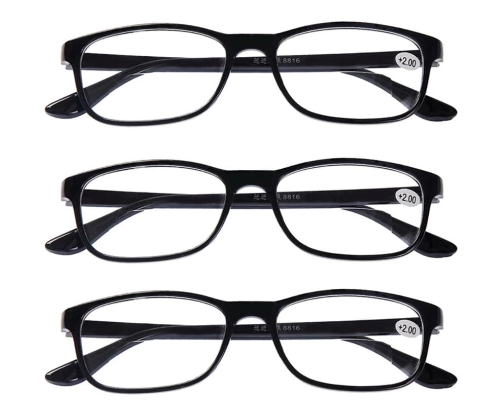 3x Classic Bifocal Reading Glasses Mens Womens Everyday Use Readers Eyewear Office Home Eyeglasses +1.0 to +4.0 Lens Black New-modlily