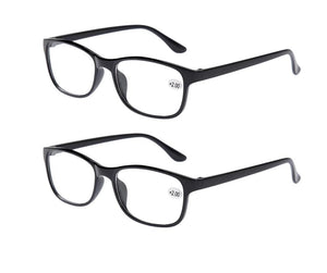 2x Classic Bifocal Reading Glasses Mens Womens Readers Eyewear Everyday Use Office Home Spectacles +1.00 to +4.00 Lens Black-modlily