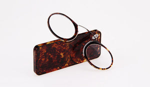 Nose Resting Reading Glasses +1.0 to +3.5, Portable SOS Wallet Reader clip on Mini reading glasses with case-modlily