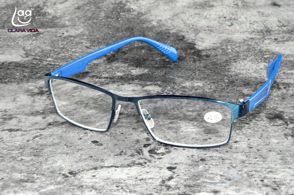 CLARA VIDA GREAT DEAL TWO PAIRS!!! FULLRIM MEN WOMEN BLUE READING GLASSES +1 +1.25 +1.5 +2 +2.5 +1.75 +3.25 +3.5-modlily