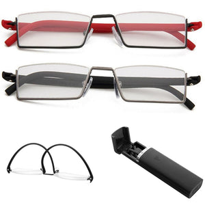 1PC Unisex Light Reading Glasses 1.0 To 4.0 Red/Black TR90 Eyes Care Healthy-modlily