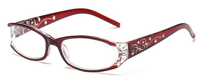 Fashion Vintage Plastic Reading Glasses Women Men Lightweight Original Brand Hyperopia Presbyopia Red Purple-modlily