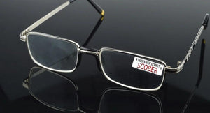 = SCOBER =Two Pairs Full-Rim Natural Crystal Lenses Alloy Comfortable Nose Pad Reading Glasses +1 +1.5 +2 +2.5 +3 +3.5 +4-modlily