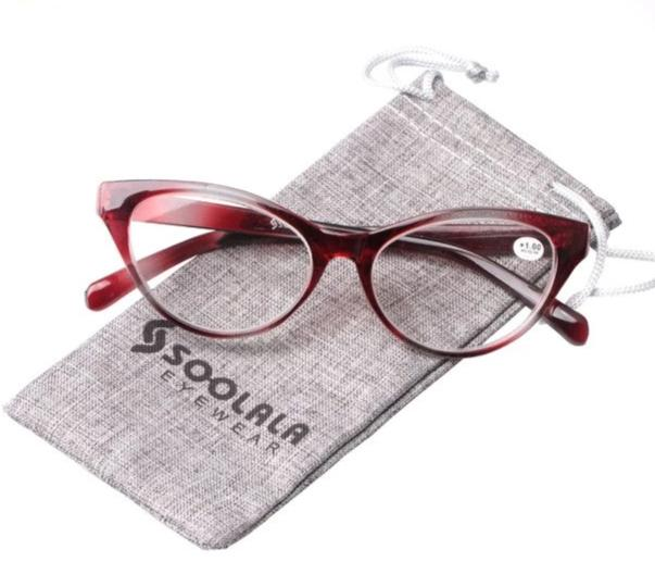 SOOLALA Ladies Brand Designer Cat Eye Reading Glasses Women Customized Strengths Full Frame Eyeglasses +1 +1.5 +2 +2.5 +3 +3.5-modlily