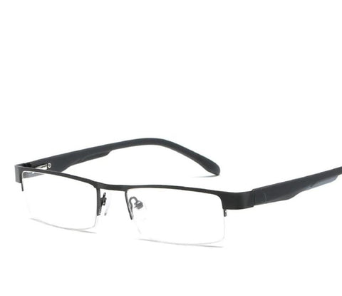 2018 Metal Half Frame Reading Glasses Presbyopia Spectacles Presbyopia Spectacles Transparent +1.0 +1.5 +2.0 +2.5 +3.0 +3.5 +4.0-modlily