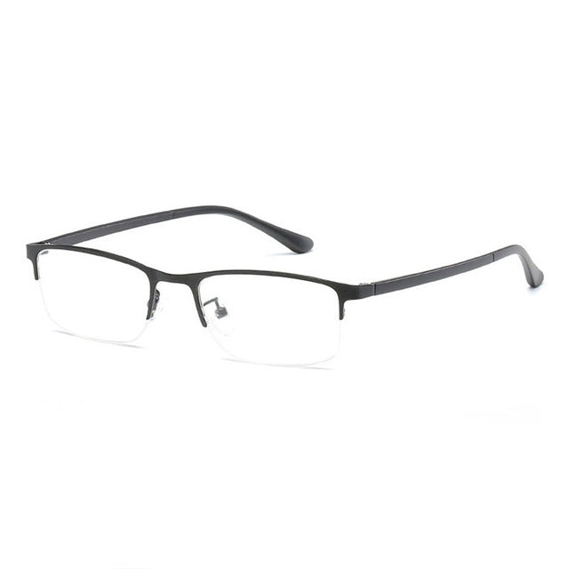 Optical Eyeglasses Half Rim Eyeglasses Non Spherical 12 Layers Coated Lenses Reading Glasses+1.0 +1.5 +2.0 +2.5 +3.0 +3.5+4.0-modlily
