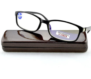 SCOBER = Top Quality Anti Blue Reflective Coated Reading Glasses Hand Made Frame Delicate Hinge Spectacles +0.75 +1 +1.75 To +4-modlily